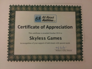All About Abilities Certificate